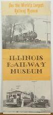 1973 Illinois Railway Museum Union IL vintage travel brochure b