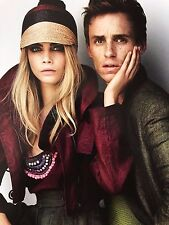 2012 Vogue Magazine Burberry Cara Delevingne Eddie Redmayne Testino Art Advert