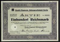 GERMANY 909/G&K -Steatit-Magnesia Aktiengesellschaf, 100 RM 1932 Berlin