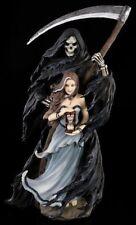 Anne Stokes Figur - Summon The Reaper - Fantasy Gothic Dämon Sensenmann Elfe