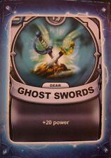 Skylanders Battlecast Collector's Card Gear Ghost Swords