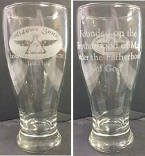 Laser Engraved Masonic Widows Sons 19oz Pub Pilsner with  saying