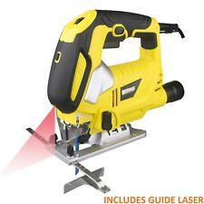 800W Pendulum Jigsaw Laser Guide Variable Speed Aluminium Base Blades