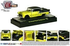 1:64 M2 Machines AUTO-MODS 3 = Yellow 1955 Chevrolet Bel Air Custom NIB!