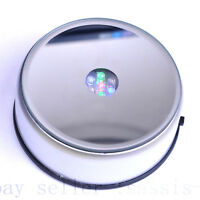 "4"" Unique 360` Rotating Crystal Display Base Stand 7 LED Light 3 model switch"