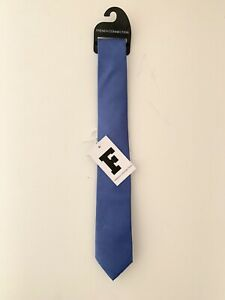 FCUK FRENCH CONNECTION Brand New Mens Blue Slim Pure Silk Tie
