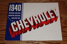 1940 Chevrolet Full Line Sales Brochure 40 Chevy Special Master Deluxe  85