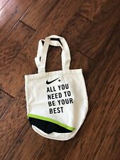 Nike + Green & Black Athletic Tote Bag