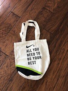 Nike + Green & Black Athletic Tote Bag