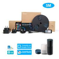SONOFF 5m Smart LED Strip Light Dimmable Waterproof WiFi RGB Alexa Google Home