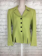 Damen Delgado grün Langarm Smart Suit Blazer Jacke Größe 46 UK M/L
