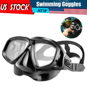 Underwater Swimming Goggles Scuba Half Face Diving Glasses Anti Fog For Adult US
