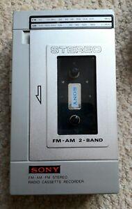 Vintage SONY STEREO RADIO CASSETTE  RECORDER No 88 Hongkong / working ok