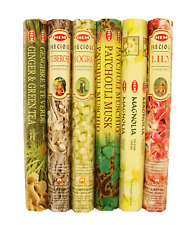HEM Incense Sticks Variety Pack of 6 Scents | Hand Crafted in India