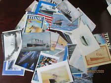 """RMS """" TITANIC """" LARGE POSTCARD COLLECTION 60+ ALL DIFFERENT."""