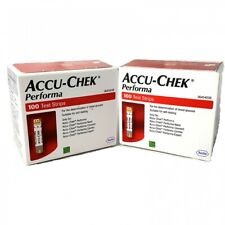 Accu Chek Performa 200 Glucose Test Strips 2 boxes Expiry Sep/2020 or Later USA