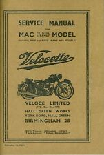 Velocette Service Manual MAC (MOV) Rigid Frame Book Workshop Manual