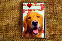 Golden Retriever Dog Gift Fridge Magnet 77x51mm Birthday Gift Stocking Filler