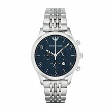 Emporio Armani AR1942 Navy/Silver Stainless Steel Analog Quartz Men's Watch