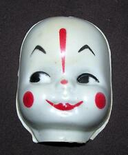 VTG 1950'S DOLL MAKING CRAFT SUPPLIES - SML CELLULOID CLOWN DOLL'S MASK FACE