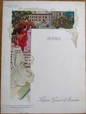 Grand Marnier 1910 Art Nouveau French Advertising Menu - Marguerite de Navarre