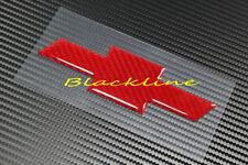 For 14~15 Chevrolet Camaro Red Carbon Fiber Rear Trunk Emblem Trim Filler Decal