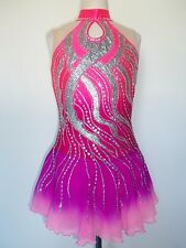 NEW FIGURE ICE SKATING TWIRLING BATON DANCE DRESS ADULT L