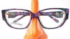 Occhiali modello fuori uso donna versione Silhouette verde viola Butterfly taglia L