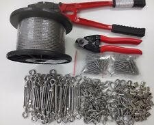 Balustrade Turnbuckle Kits (22) Stainless Steel Wire (100m) Swager Cutter