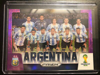 2014 Panini Prizm World Cup Argentina Team Card Purple#21/99 *Lionel Messi
