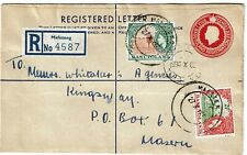 Basutoland 1966 Mafeteng cancel on uprated stationery envelope