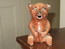 vintage old antique small pottery bear pitcher jug Rd No 518205 Us patent