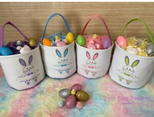 Personalise Your  Easter Basket Bunny Bags / Bucket