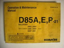 Komatsu D85A,E,P-21 Dozer Operation & Maintenance Manual
