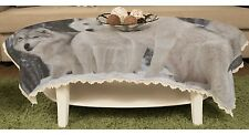 Wolf Rectangular Lace Table Cloth Banqueting Table Cover y43 y0184