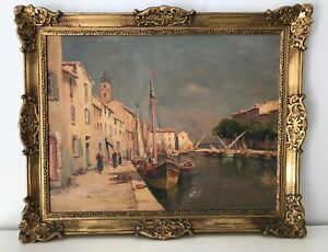 Tableau fin XIXème-Ecole Provençale-Martigues-Godchaux-Malfroy-A identifier ?