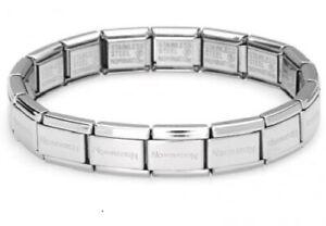 Original NOMINATION Bracelet Classic Italian Charm Stainless 19 Links NEW