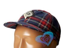 New Obey Dionne Throwback Plaid Strapback Cap Hat