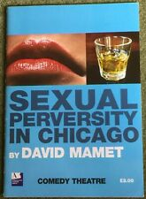 Sexual Perversity Chicago Programme Comedy Theatre MATTHEW PERRY MINNIE DRIVER
