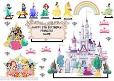 23 DISNEYS PRINCESS BIRTHDAY STAND UP EDIBLE CAKE SCENE WAFER RICE CARD CUPCAKE