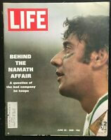 LIFE MAGAZINE - Jun 20 1969 - JOE NAMATH / Young Hillary Clinton Photo & Quote