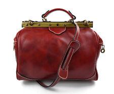 ac9792a020 Doctor bag rosso borsa donna doctor bag vera pelle borsa medico a mano  tracolla