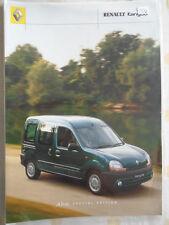 Renault Kangoo Alize brochure Apr 2000