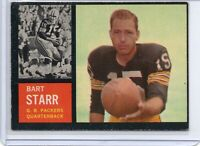 1962 Topps Bart Starr Green Bay Packers SP #63