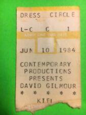 David Gilmour Pink Floyd 1984 Kiel Auditorium St.Louis Mo Concert Ticket Stub