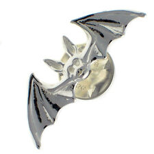 Sterling 925 British Silver Bat Lapel Pin Brooch by Welded Bliss