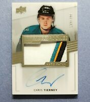 2014-15 UD Premier, Chris Tierney RC, Rookie 4 Clr Patch Auto Autograph, 123/299