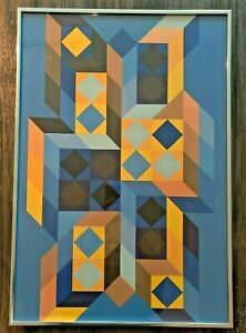 Victor Vasarely - Tridimor 1969 Serigraph - Signed - Gallery 22