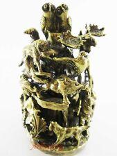 "Beautiful Russian bronze bell ""Hunting"" Wild animals Decorative Handmade #20"