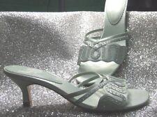 K by Clarks Jade with diamante flower front slip  low heel sandals Size 5.5